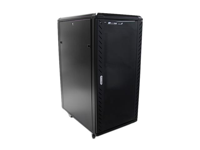 StarTech RK2536BKF 25U 36in Knock-Down Server Rack Cabinet with Casters