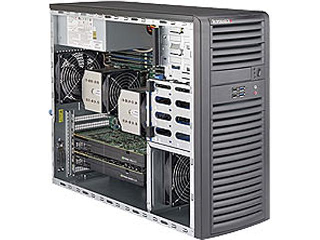 SUPERMICRO SYS-7038A-I Mid-Tower Server Barebone Dual LGA 2011 Intel C612 DDR4 2133/1866/1600