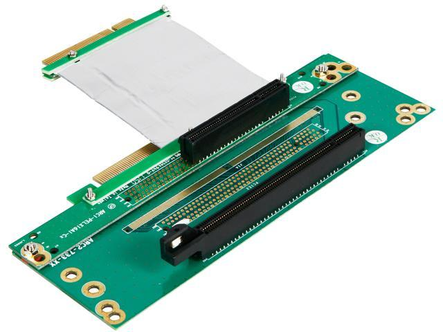 iStarUSA DD-603605-C7 1 PCIe x16 and 1 PCIe x8 Riser Card