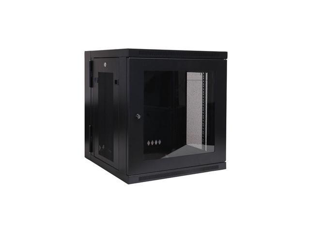 Tripp Lite SRW12USG 12U Wall Mount Rack Enclosure Cabinet w/ Plexiglas Front Door Insert