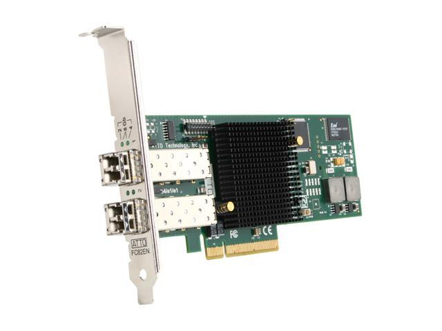 ATTO CTFC-82EN-000 PCI-Express 2.0 x8 Fibre Channel Dual-Channel 8Gb/s Fibre Channel PCIe 2.0 Host Bus Adapter