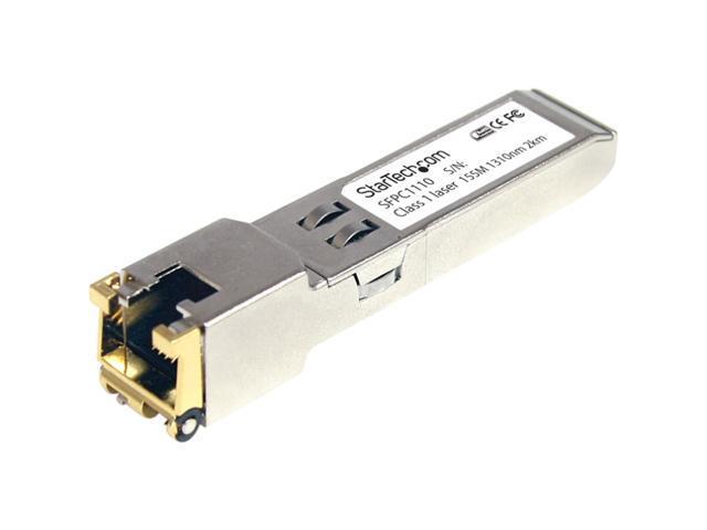 StarTech SFPC1110 Cisco Compatible Gigabit RJ45 Copper SFP Transceiver Module
