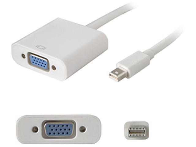 AddOn Mini-Displayport to VGA White Adapter Cable - Male to Female