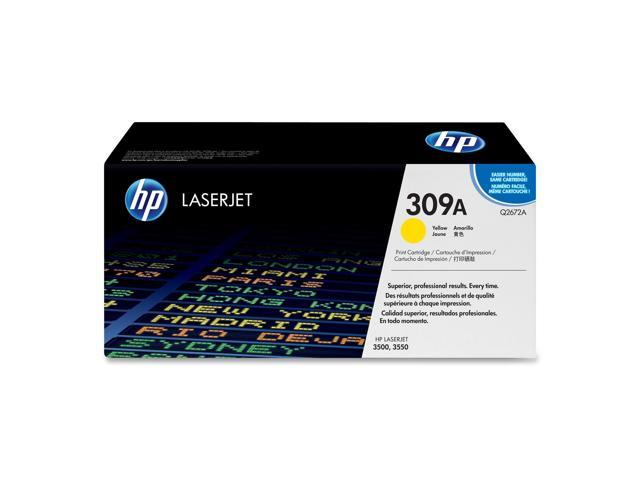 HP 309A Yellow LaserJet Toner Cartridge (Q2672A)