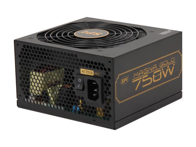 SPARKLE R-SPI750ACAG 750W ATX12V 2.3 SLI CrossFire 80 PLUS GOLD Certified Active PFC Power Supply