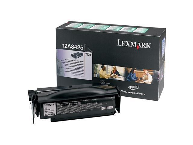 Lexmark 12A8425 T430 High Yield Print Cartridge; black 12,000 page yield (Return Program)