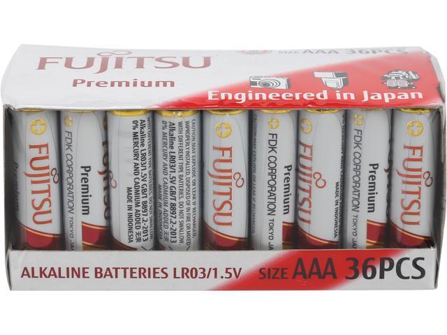 Fujitsu AAA Premium 36-Pcs. Alkaline Battery Pack