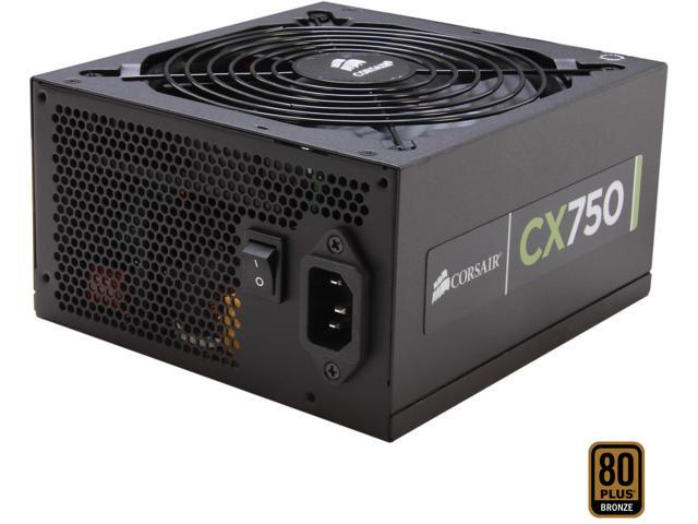 CORSAIR CX series CX750 750W ATX12V / EPS12V SLI Ready CrossFire Ready 80 PLUS BRONZE Certified Active PFC Power Supply New 4th Gen CPU Certified ...