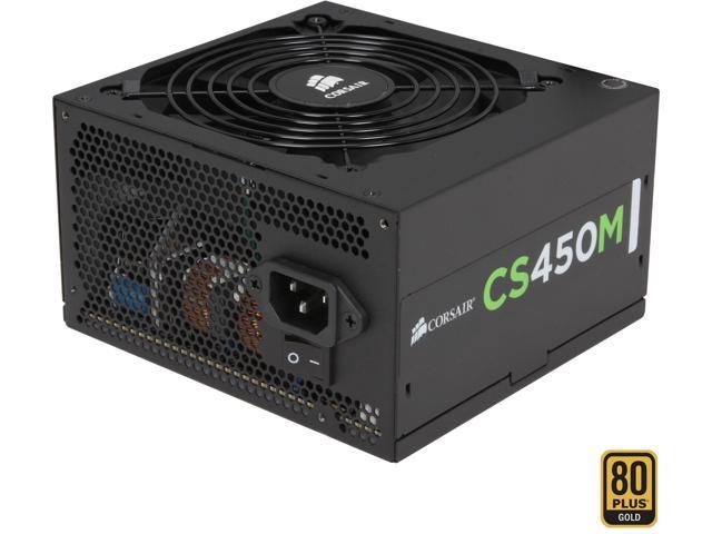 CORSAIR CSM Series CS450M 450W ATX12V v2.4 and EPS 2.92 80 PLUS GOLD Certified Modular Active PFC Power Supply