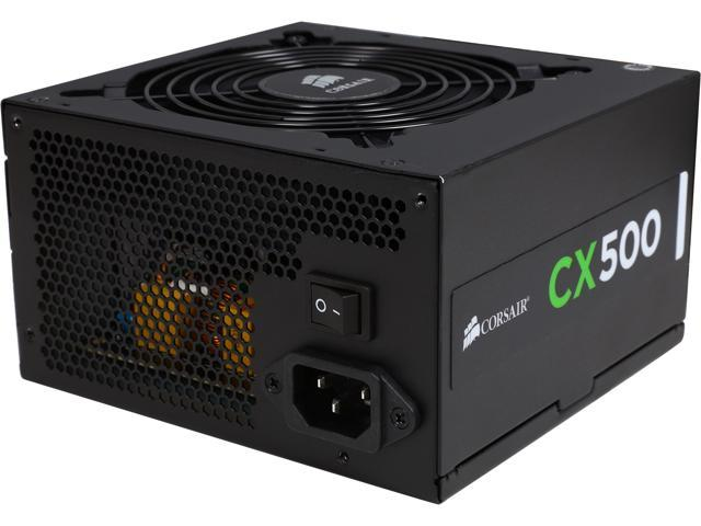 CORSAIR CX series CX500 500W ATX12V v2.3 80 PLUS BRONZE Certified Active PFC Power Supply