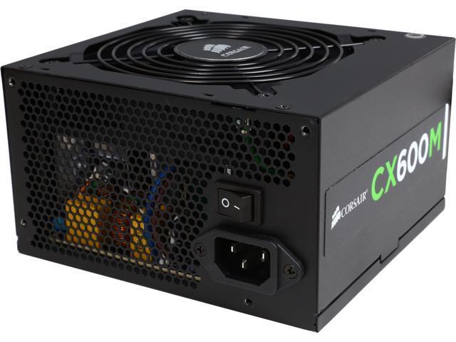 CORSAIR CXM series CX600M 600W ATX12V v2.3 SLI Ready CrossFire Ready 80 PLUS BRONZE Certified Modular Active PFC CORSAIR CP-9020060-NA Power Supply