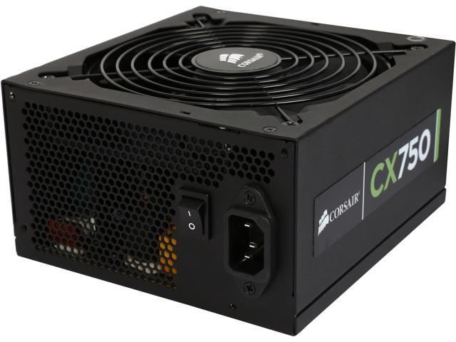 CORSAIR CX series CP-9020015-NA/RF 750W ATX12V / EPS12V SLI Ready CrossFire Ready 80 PLUS BRONZE Certified Active PFC Power Supply New 4th Gen ...