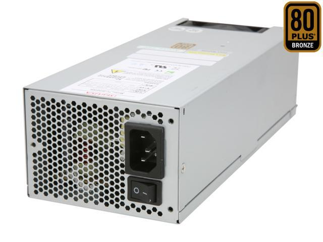 iStarUSA TC-2U/50-80 24Pin 500W Single 2U 38dB Quiet 80plus Bronze Green Server Power Supply