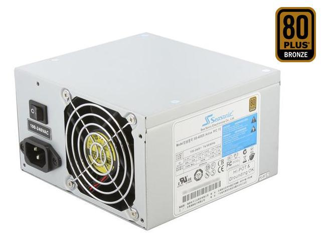 SeaSonic SS-400ES Bronze 400W ATX12V v2.31 80 PLUS BRONZE Certified Active PFC Power Supply - OEM