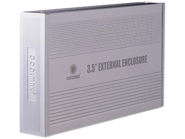 Coolmax HD-389-U2 Drive Enclosure - External - Silver