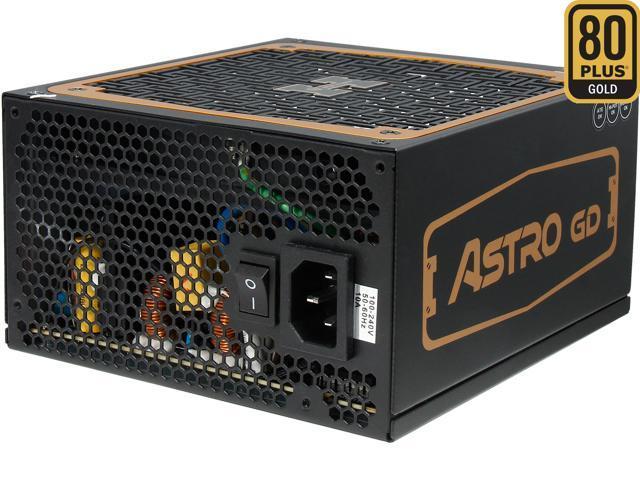 HighPower Astro GD 600W, 80+ Gold, Single +12 Rails, SLI/Cross Fire ready, Full Module, Active PFC Power Supply