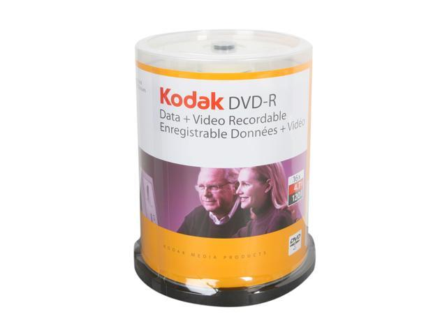 Kodak 4.7GB 16X DVD-R 100 Packs Disc Model 50300