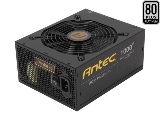 Antec HCP Platinum HCP-1000 1000W ATX12V V2.32 / EPS12V V2.92 SLI Ready CrossFire Ready 80 PLUS PLATINUM Certified Full Modular Active PFC Power ...