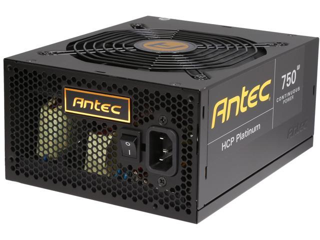 Antec HCP-750 Platinum 750W ATX12V / EPS12V SLI Ready CrossFire Ready 80 PLUS PLATINUM Certified Power Supply
