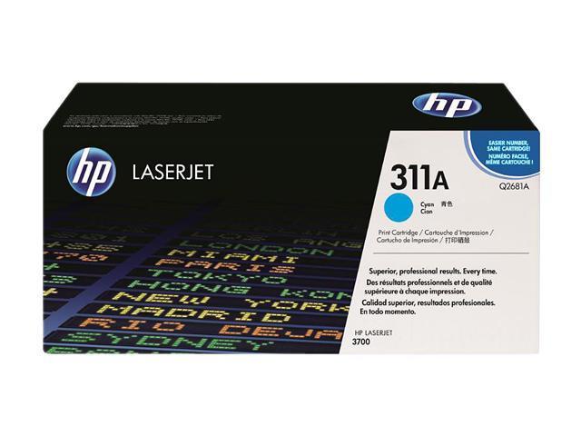 HP 311A Cyan LaserJet Toner Cartridge (Q2681A)