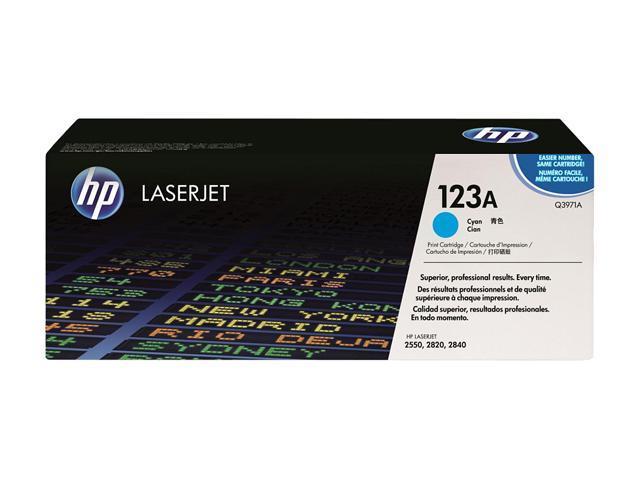 HP 123A Cyan Toner Cartridge for Color LaserJet 2550L,2550LN,2550N (Q3971A)