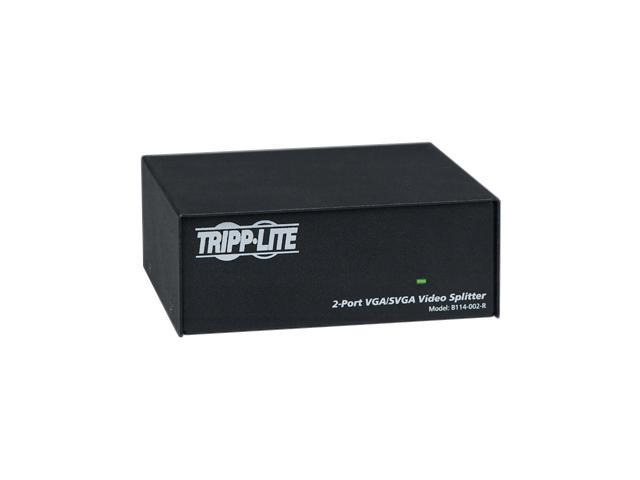 Tripp Lite VGA/SVGA 350MHz Video Splitter - 2 Port (HD15 M/2xF) B114-002-R VGA Interface