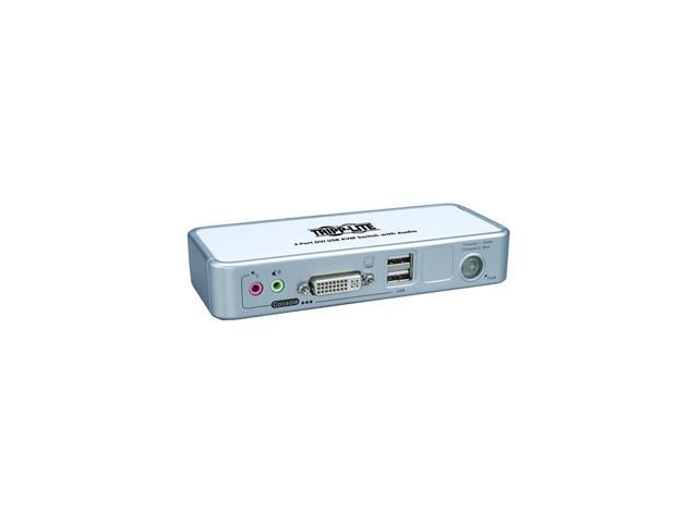 TRIPP LITE B004-DUA2-K-R 2-Port Compact DVI/USB KVM Switch w/Audio and Cable