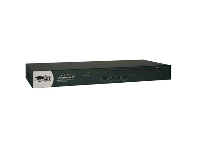 TRIPP LITE B042-004 4-Port 1U Rackmount USB/PS2 KVM Switch with On-Screen Display