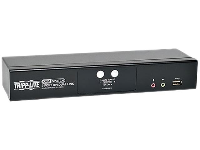 Tripp Lite 2-Port DVI Dual-Link / USB KVM Switch w/ Audio and Cables