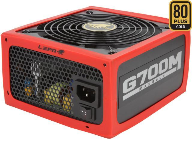 LEPA MaxGold G700-MB 700W ATX12V / EPS12V CrossFire Ready 80 PLUS GOLD Certified Active PFC Power Supply