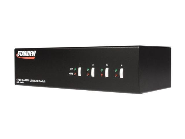 StarTech SV431DVIDDU 4 Port StarView Dual DVI USB KVM Switch with Audio