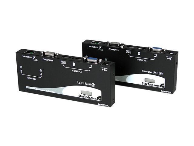 StarTech SV565UTPUL USB VGA KVM Console Extender over CAT5 UTP (500 ft)