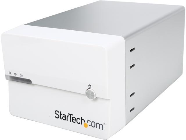 StarTech.com USB 3.0 eSATA Dual 3.5 SATA III Hard Drive RAID Enclosure with UASP and Fan (S3520WU33ER)