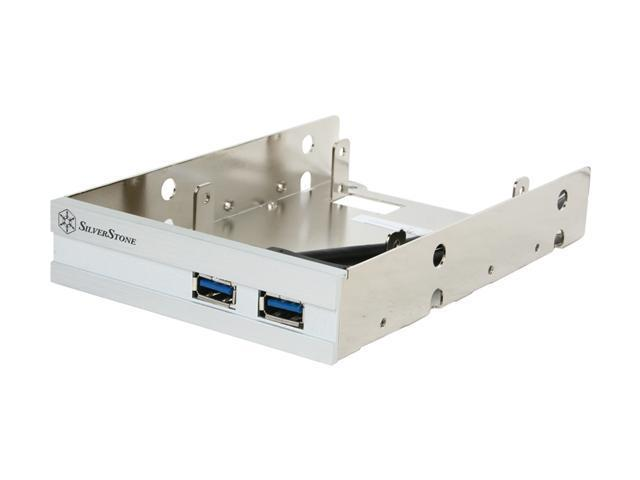 SilverStone FP36S Aluminum Front Panel 2 x USB 3.0 Ports With 2 x 2.5