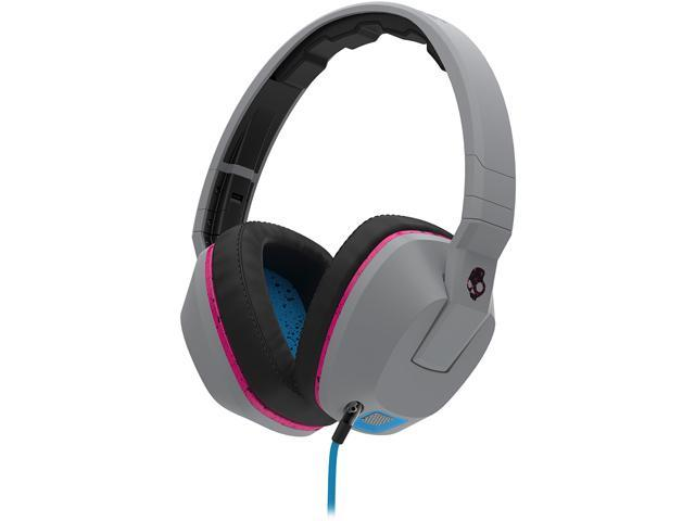 Skullcandy | Crusher Gray/Cyan/Black | Over-Ear Headphones with Built-in Amplifier & Mic (S6SCGY-381) - OEM