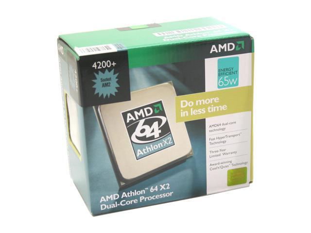 AMD Athlon 64 X2 4200+ Windsor 2.2GHz Socket AM2 65W Dual-Core Processor ADO4200CUBOX