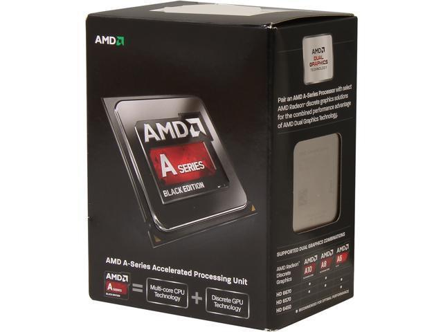 AMD A6-6400K Richland Dual-Core 3.9GHz Socket FM2 65W Desktop Processor - Black Edition AMD Radeon HD AD640KOKHLBOX
