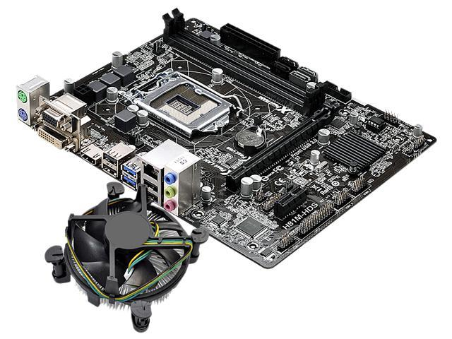 ASRock H81M-HDS MB and Intel Core i3-4150 3.5GHz Combo Fan Cooling