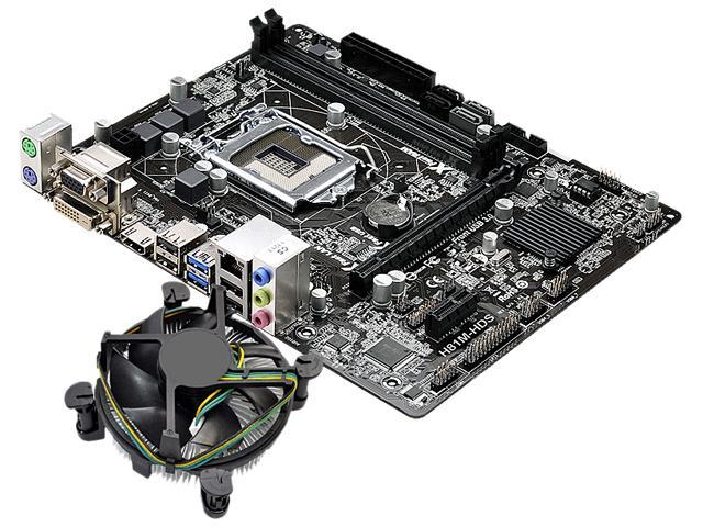 ASRock H81M-HDS MB and Intel Core i5-4460 3.2GHz Combo Fan Cooling