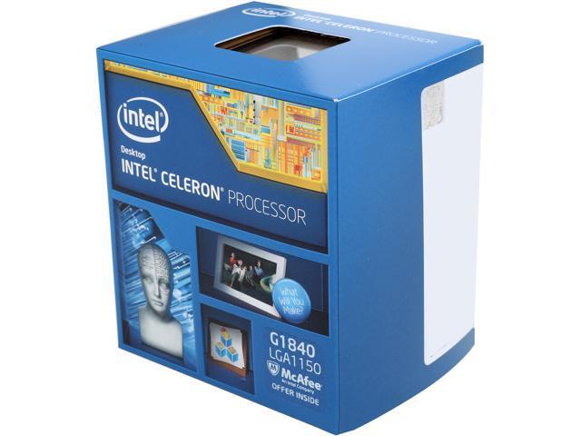 Intel Celeron G1840 Haswell Dual-Core 2.8GHz LGA 1150 53W Desktop Processor Intel HD Graphics BX80646G1840