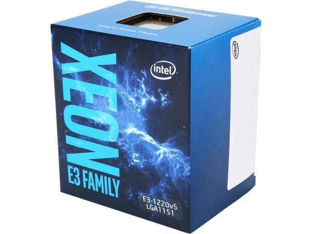 Intel Xeon E3-1220 V5 SkyLake 3.0 GHz LGA 1151 80W BX80662E31220V5 Server Proces