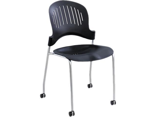 Safco 3385BL Zippi Plastic Stack Chair (Qty 2) 21 1/2