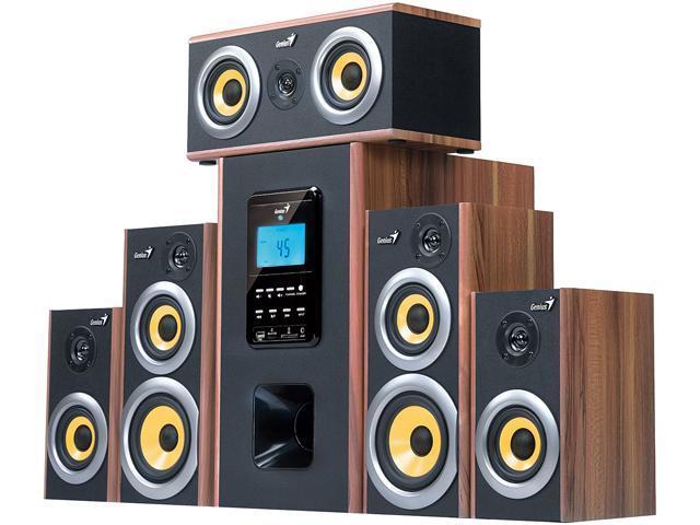 Genius SW-HF5.1 5200 Six-Piece Wooden Home Theater Speaker with MP3 Decoder