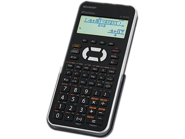 Sharp ELW535XBSL Scientific Calculator, 16-Digit x 4-Line LCD, Black/Silver