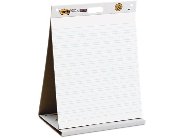 Self-Stick Tabletop Easel Ruled Pad, Command Strips, 20 X 23, White, 2