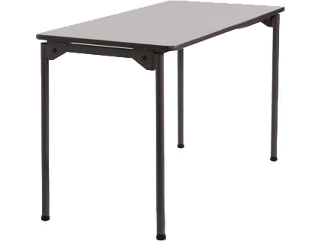 Iceberg 65807 Maxx Legroom Wood Folding Table Rectangle - 24