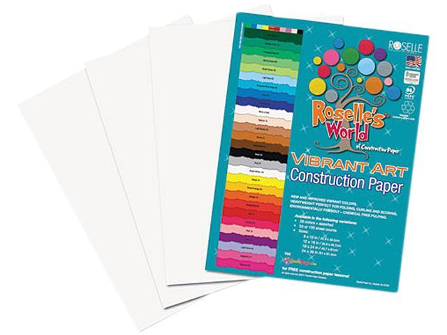 Heavyweight Construction Paper, 58 lbs., 18 x 24, Bright White, 50 She