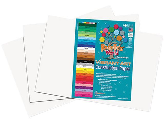 Heavyweight Construction Paper, 58 lbs., 12 x 18, Bright White, 50 She