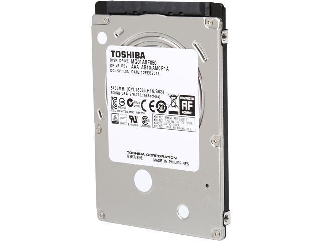 TOSHIBA MQ01ABF050 500GB SATA 6.0Gb/s 5400RPM 2.5