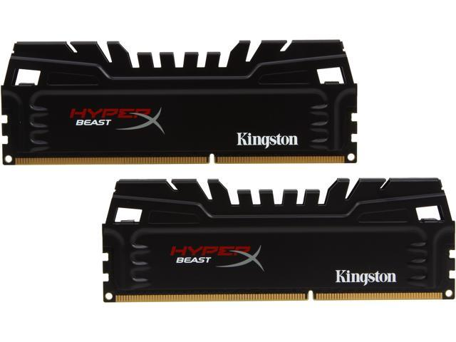 HyperX Beast 8GB (2 x 4GB) 240-Pin DDR3 SDRAM DDR3 1600 (PC3 12800) Desktop Memory Model KHX16C9T3K2/8X